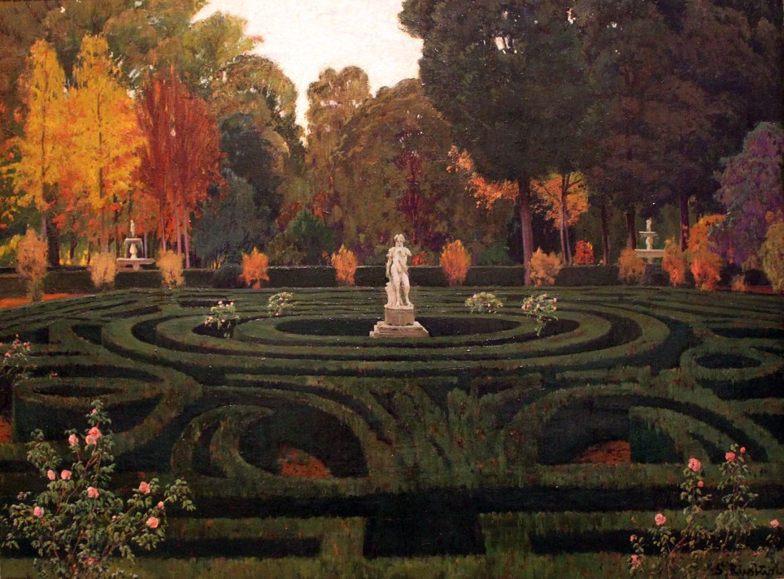 """""""Aranjuez Garden. Arbor, II."""" 1911."""