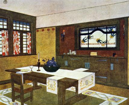 Interior of a Craftsman House. Undated.