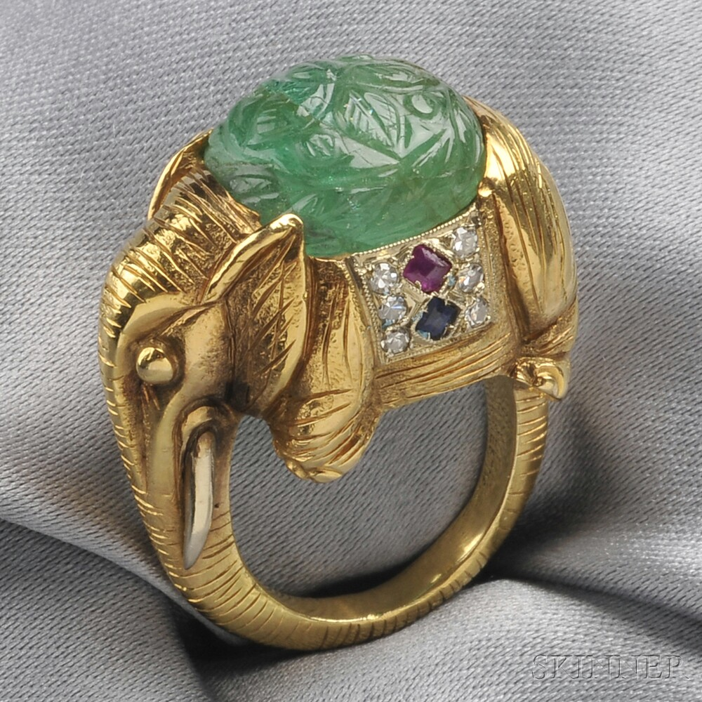 Elephant ring. ca. 1920. Presumed to be by Gustav Manz.