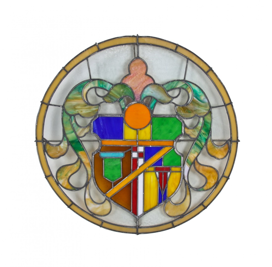 Medallion. Part of the palladian window over the marquee. ca. 1927.