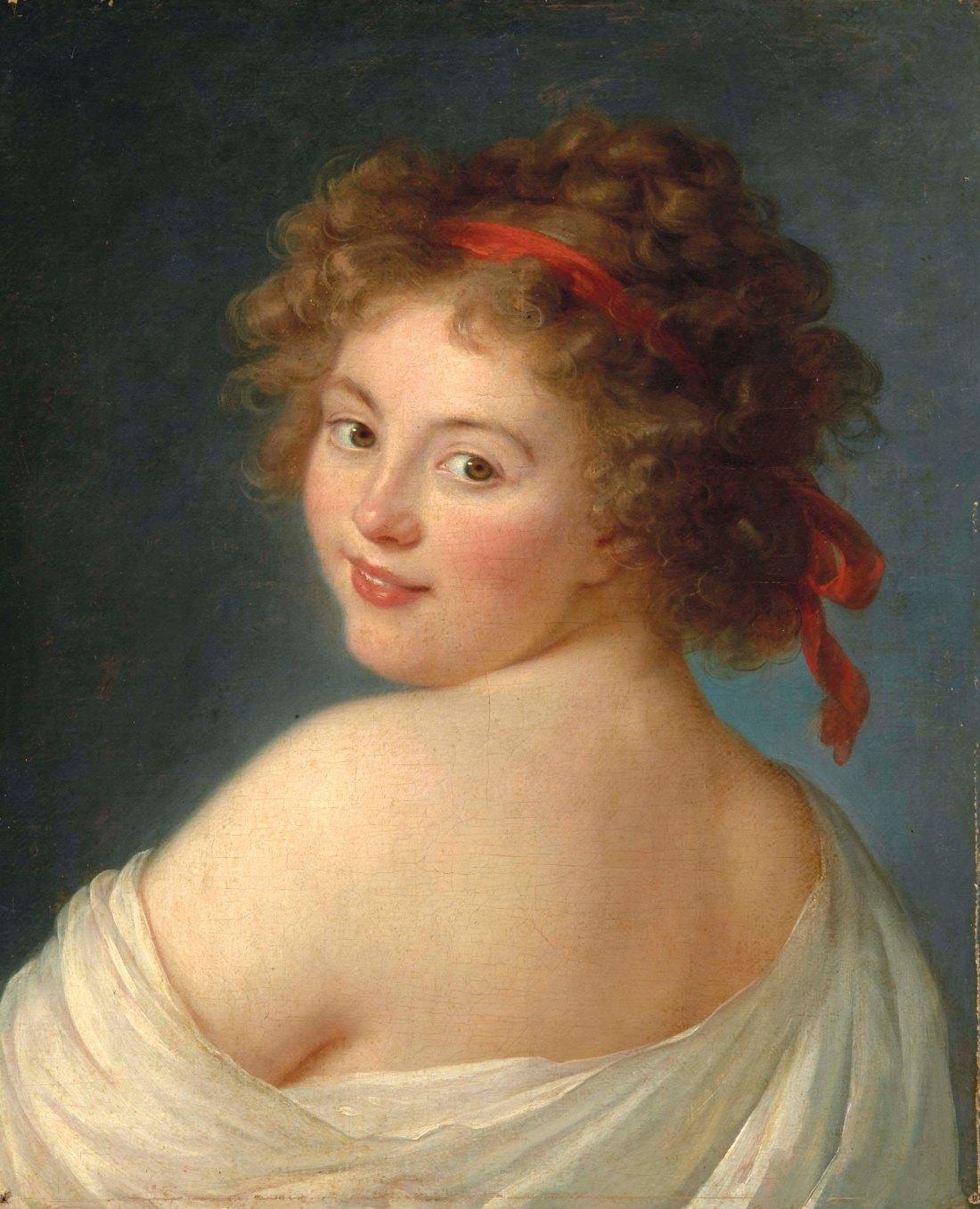 Portrait assumed to be Ekaterina Vassilievna Skavronskaia, comtesse Litta. 1790.