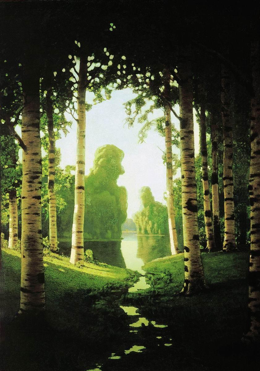 """A Birch Grove."" 1901."