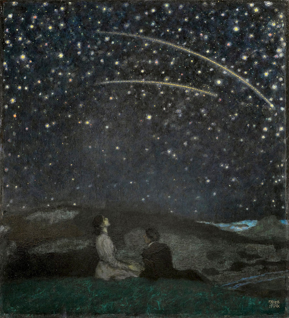 """Shooting Stars (Franz and Mary Stuck)"". 1912."