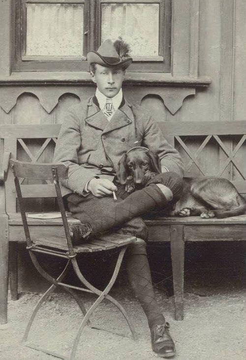 Crown Prince Wilhelm of Prussia, eldest son of Kaiser Wilhelm II.