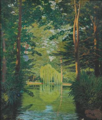 """""""Parc Badés, Arbúcies."""" 1929."""