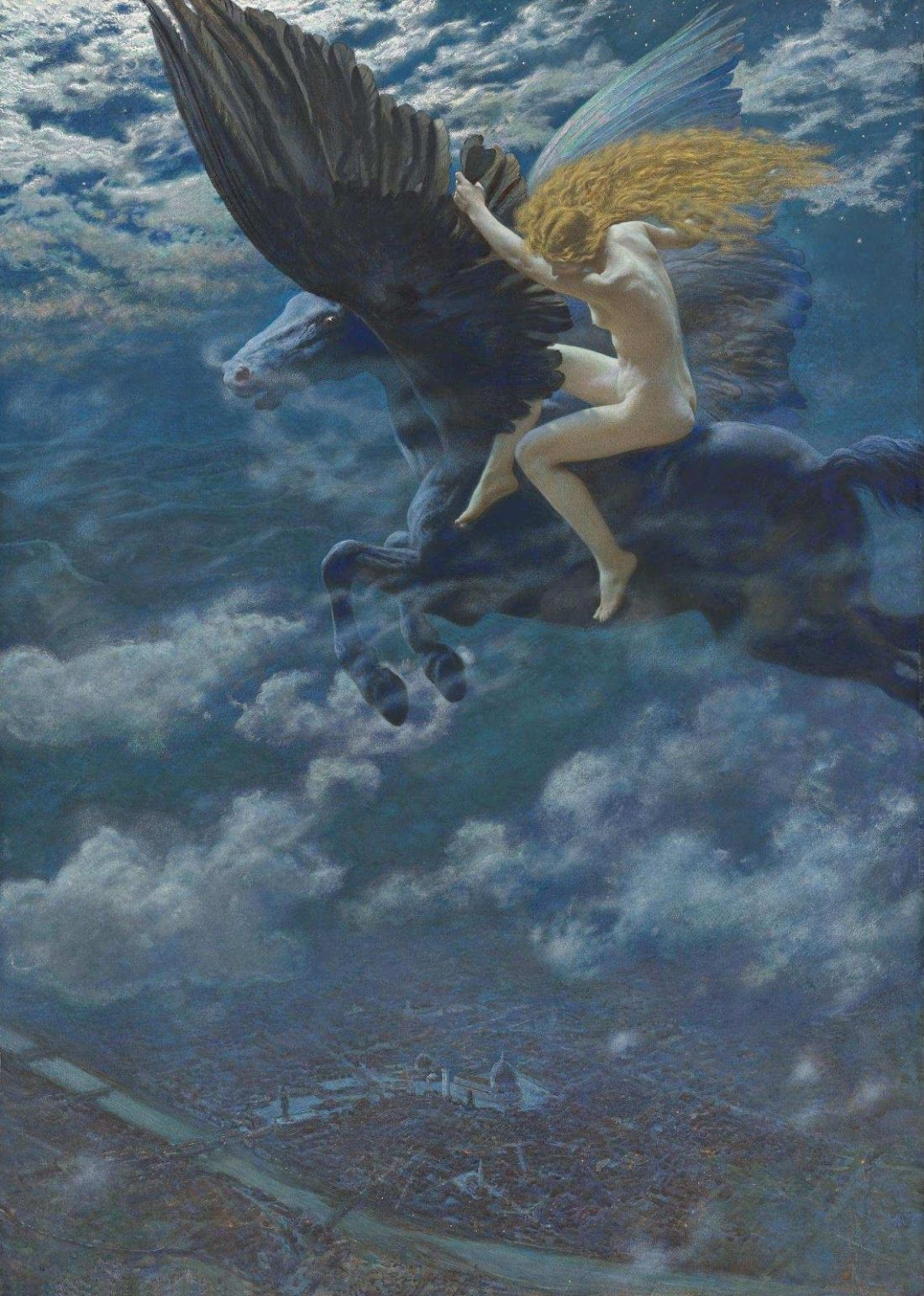 """""""Dream Idyll"""" (""""A Valkyrie""""). Before 1902."""