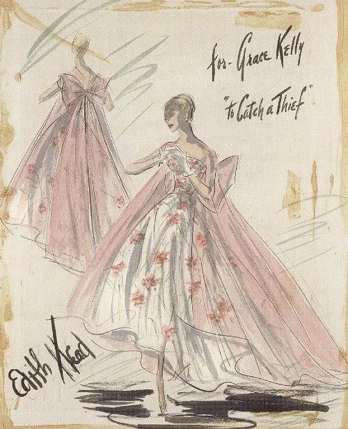 """To Catch a Thief."" 1955. Costume for Grace Kelly."