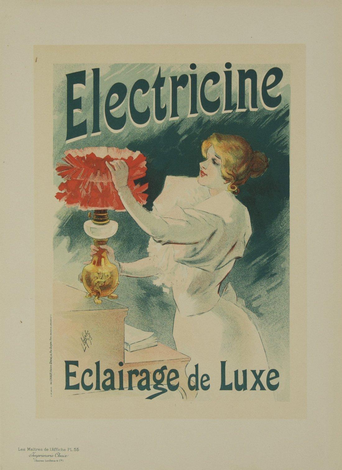"""Electricine - Eclairage de Lux"" 1897."