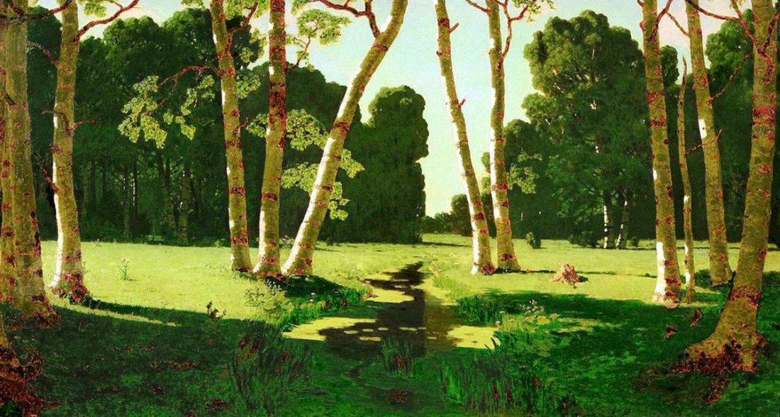 """A Birch Grove."" 1879."