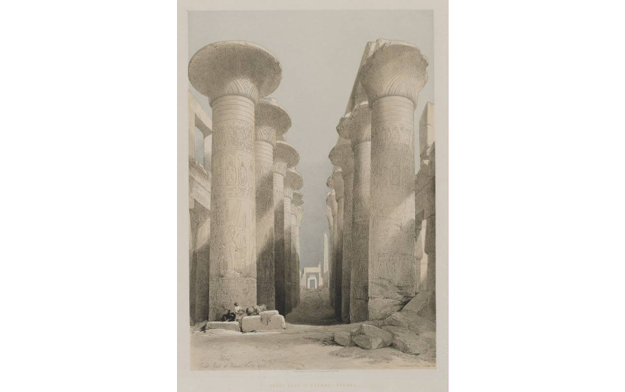 """Thebes, Great Hall at Karnac."""