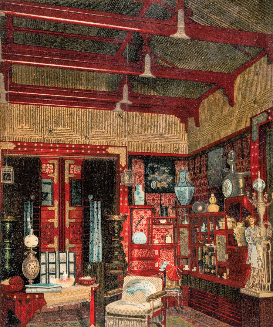 """View of the Japanese Parlor."""