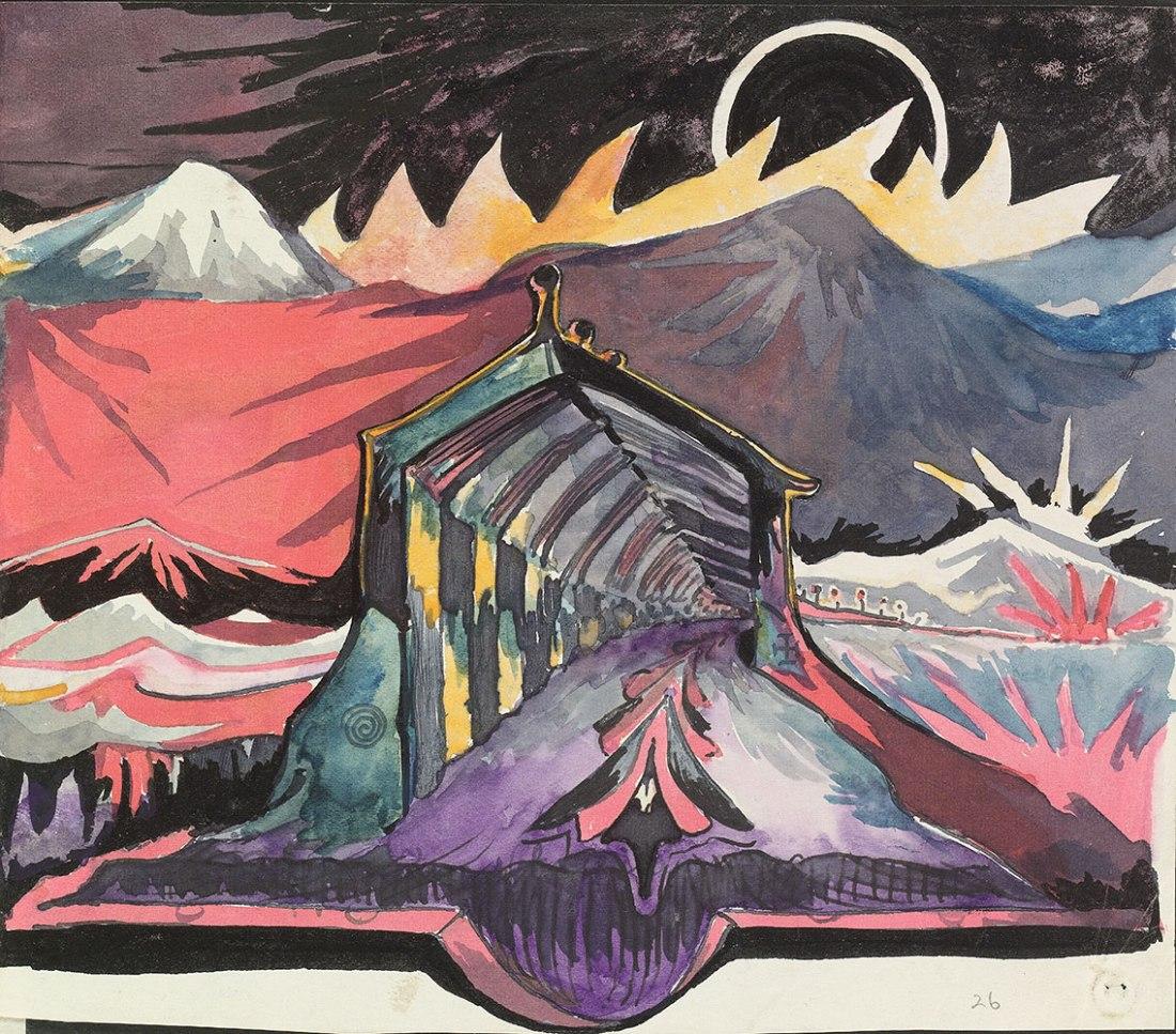 Fantasy landscape. ca. 1915.