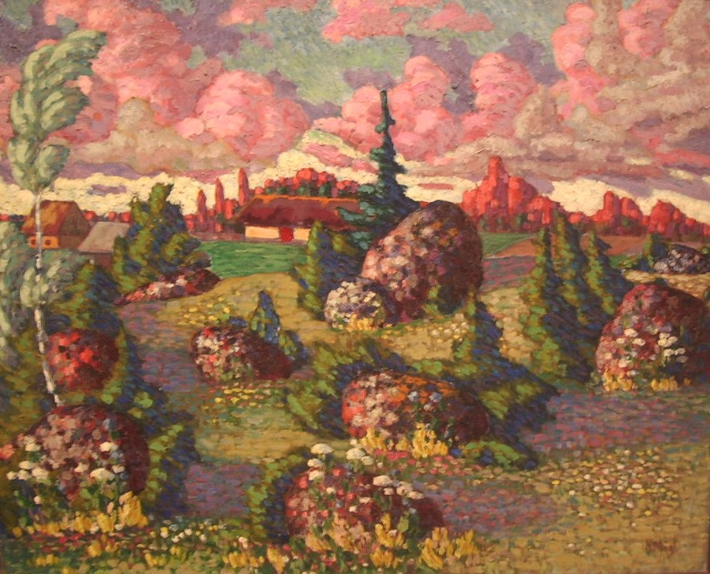 Landscape with Rocks. 1913-1914.