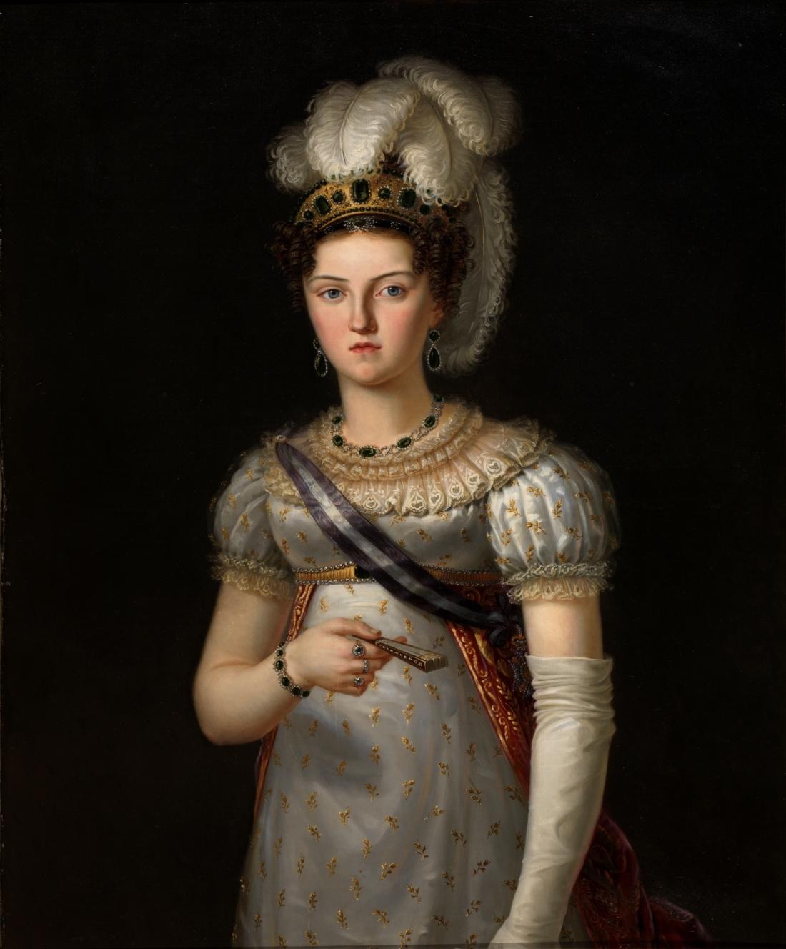 María Josefa Amalia de Saxony, wife of Spanish King Ferdinand VII. 1820.