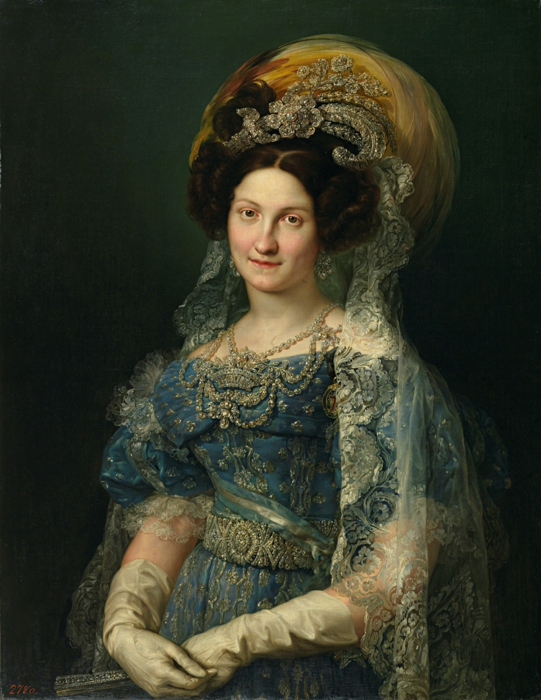 Maria Cristina de Bourbon-Sicily, Queen of Spain. 1830.