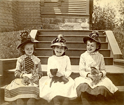 Children of Summit Avenue, Brookline. ca. 1885.