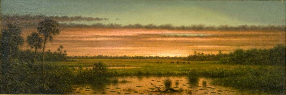 """Sunset, Tropical Marshes, Florida."" ca. 1880."