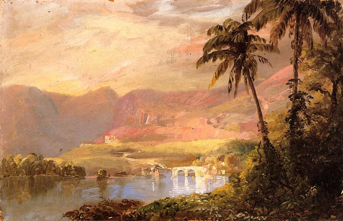 """Tropical landscape."" 1853."