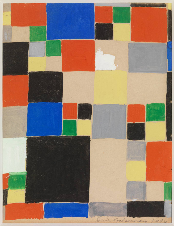 Projet de tissue / Study for fabric design, 1924.