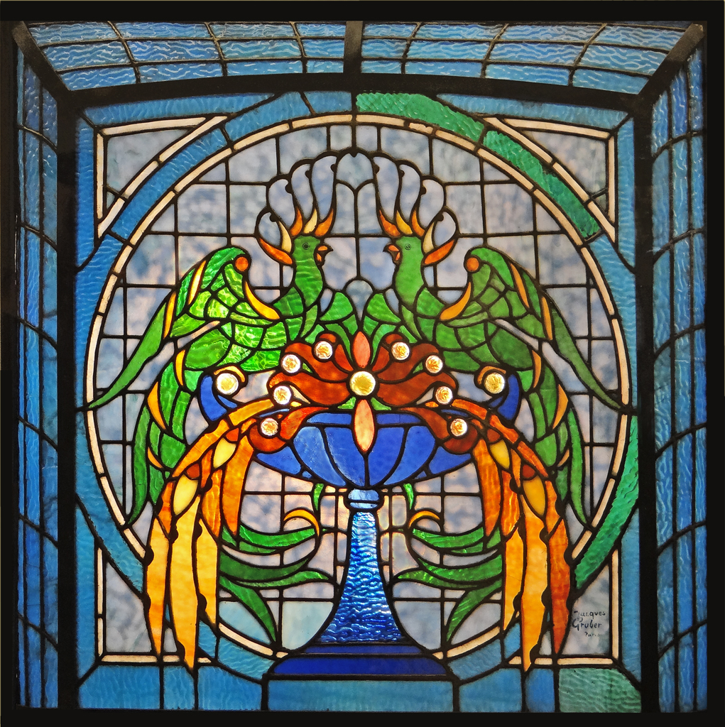 Stained glass window. Used in the Museum-Theatre of Salvador Dali, Figueres, Spain.