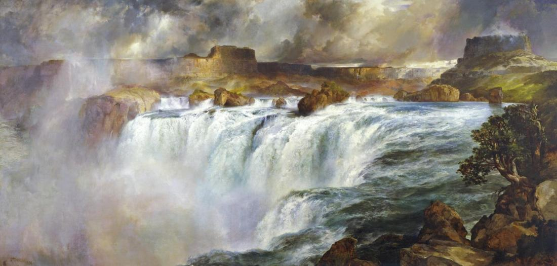 """Shoshone Falls on the Snake River."" 1900."