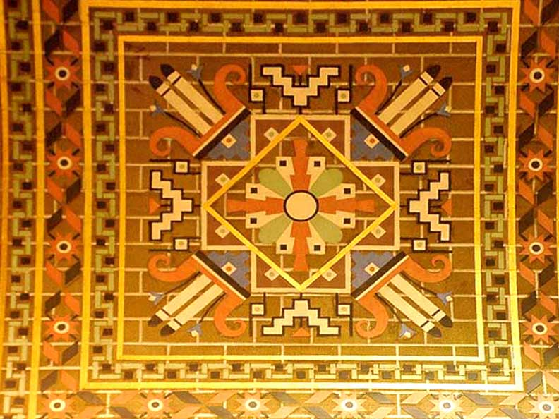 Tile. 1920's-1930's.Buffalo City Hall, Buffalo, New York.