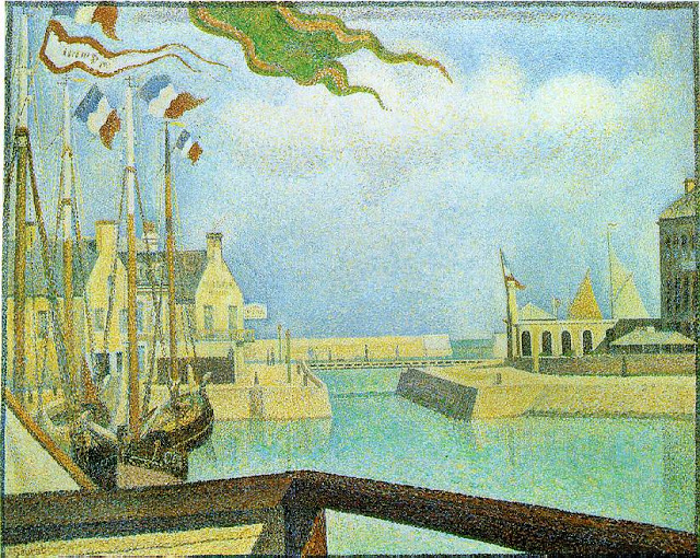 """Sunday at Port-en-Bessin."" 1888."