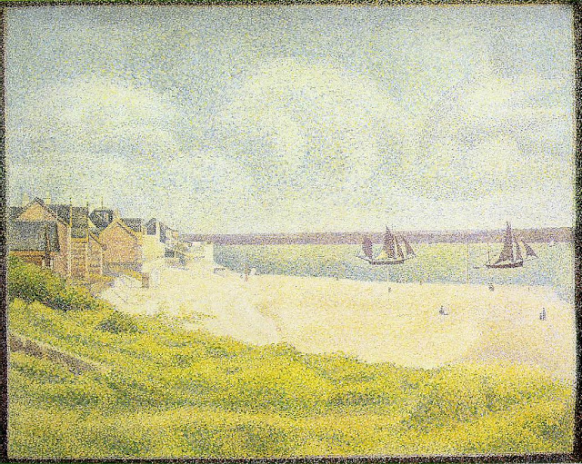 """View of Le Crotoy."" 1889."