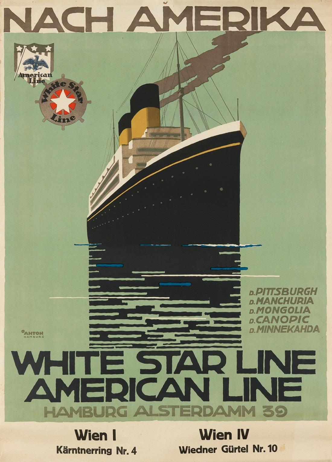 Nach Amerika/White Star Line. ca. 1930.