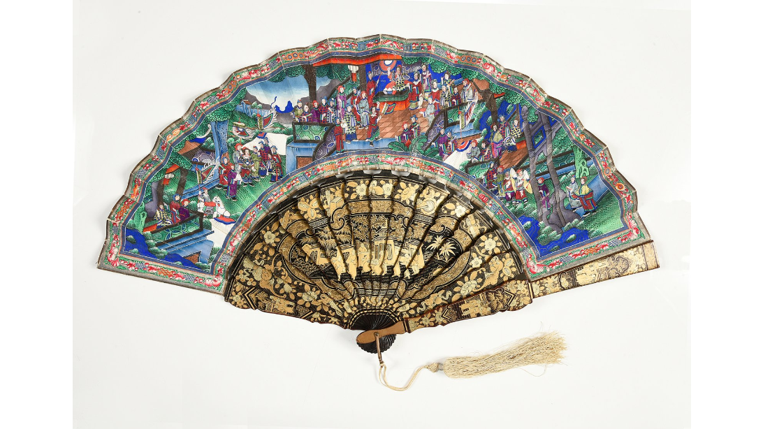 Fan with a messenger of victory motif. 1860-1880.