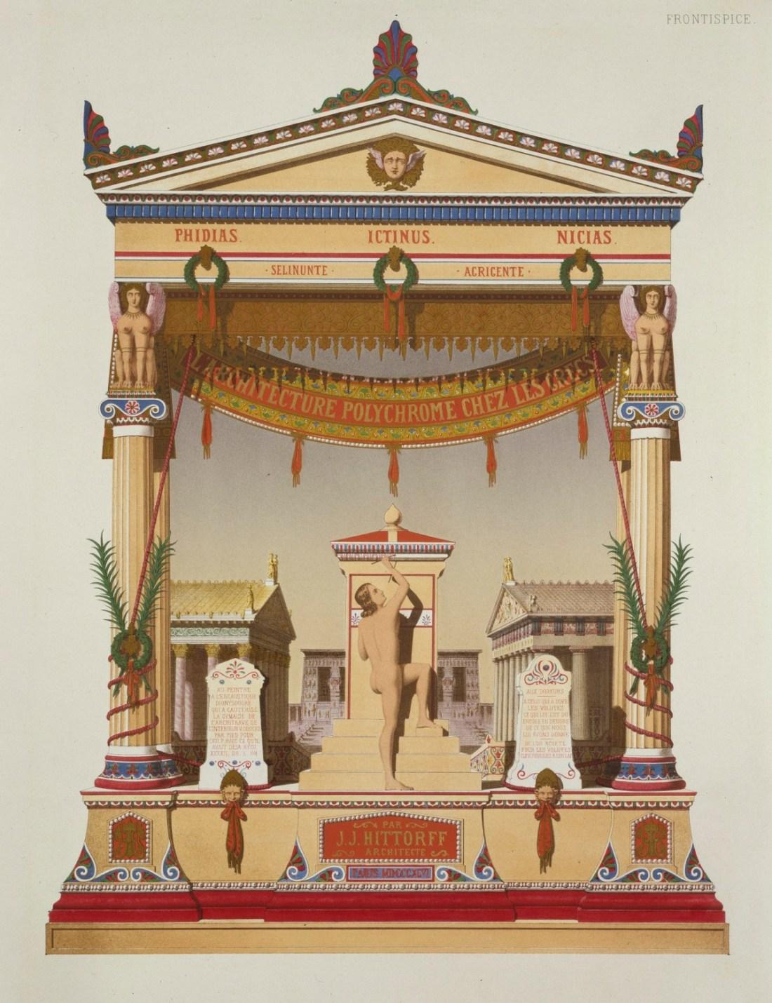 L'Architecture Polychrome chez les Grecs.  1846.