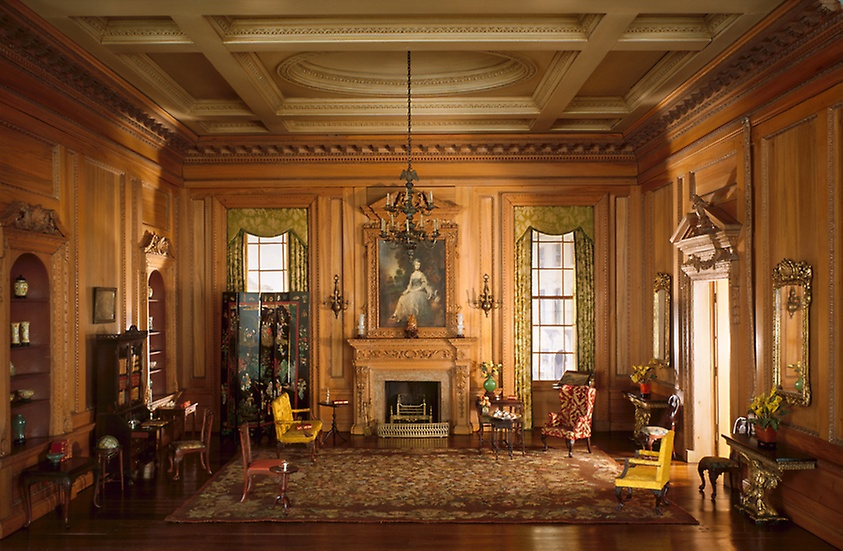 English drawing room of the early Georgian Period, 1730's.