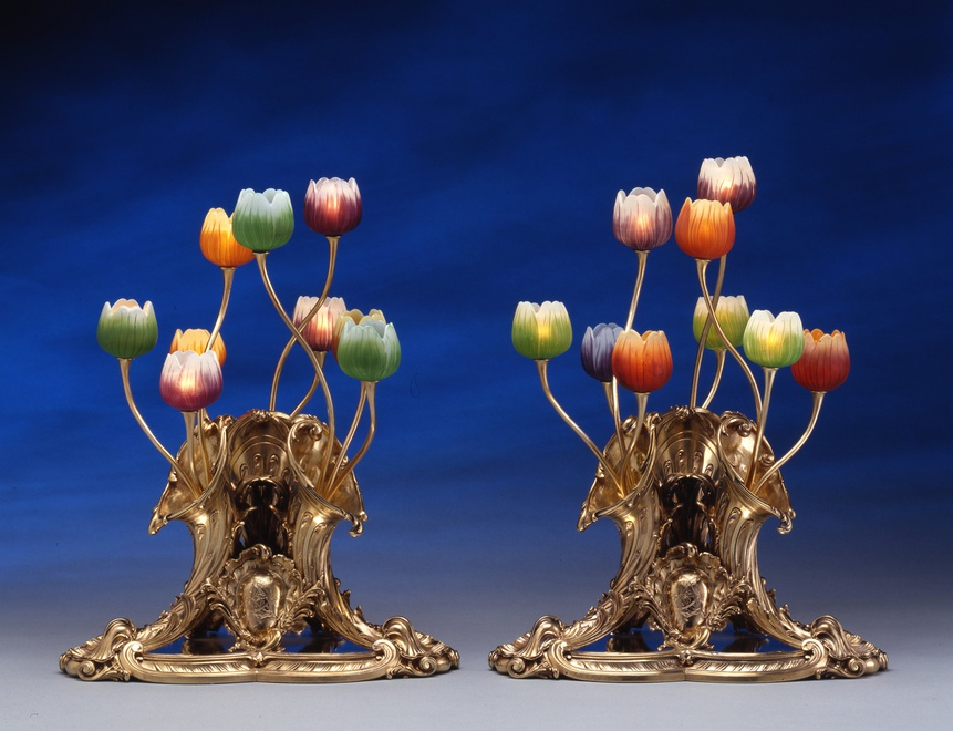 Pair of table lamps. ca. 1895.