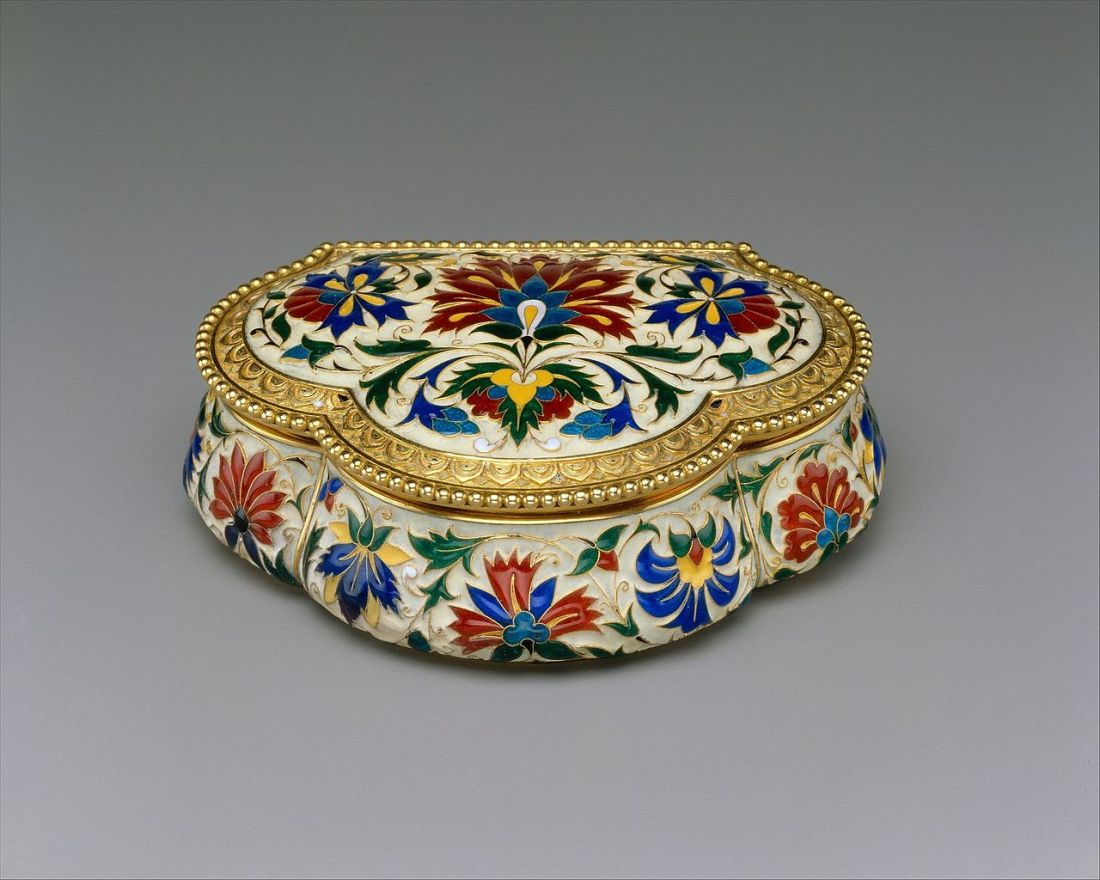 Jewelry box. ca. 1875.