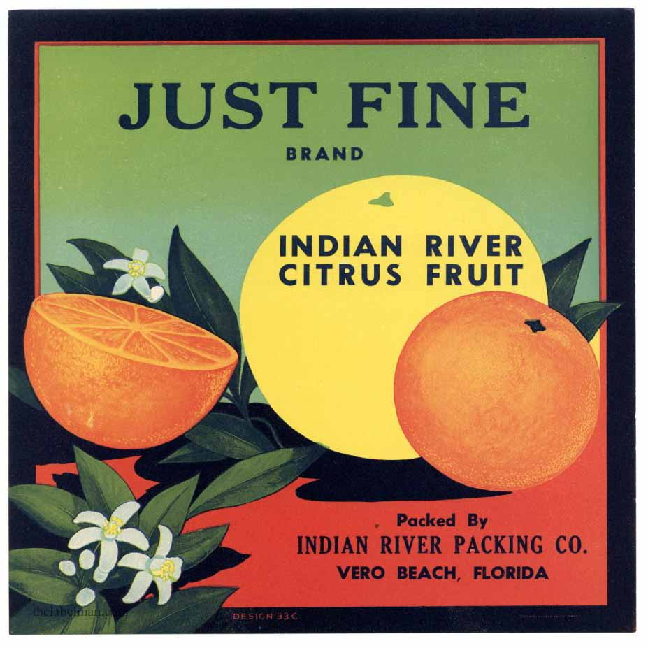 Just Fine brand Indian River citrus fruit.