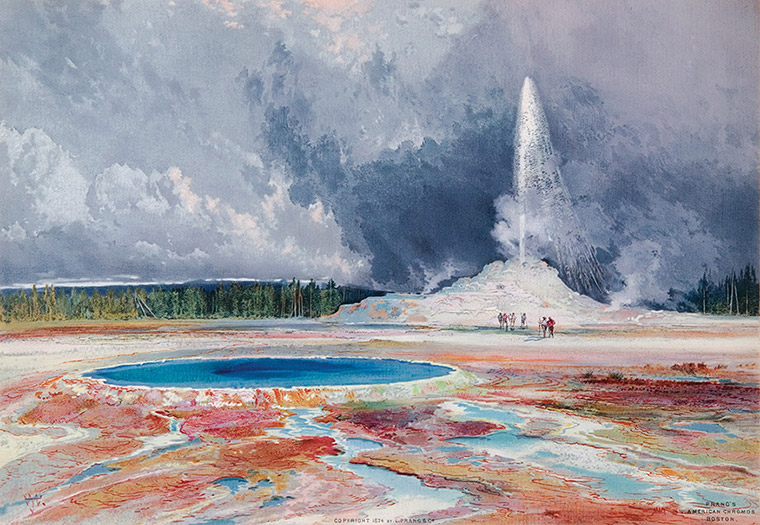 """Castle Geyser, Yellowstone."" 1874."