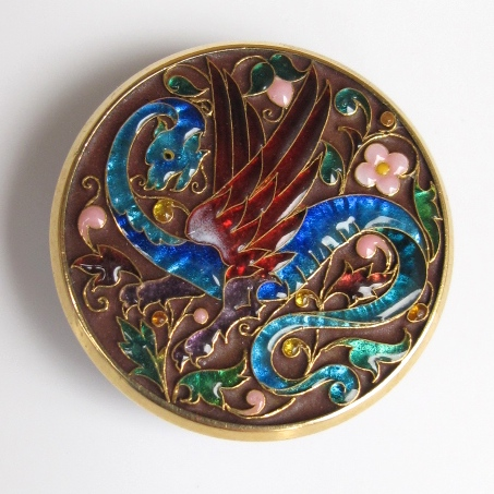 Button with the motif of a wyvern.  ca. 1880.