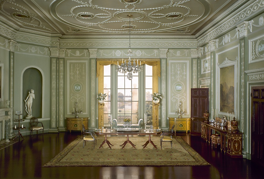 English Dining Room of the Georgian Period, 1770-90.