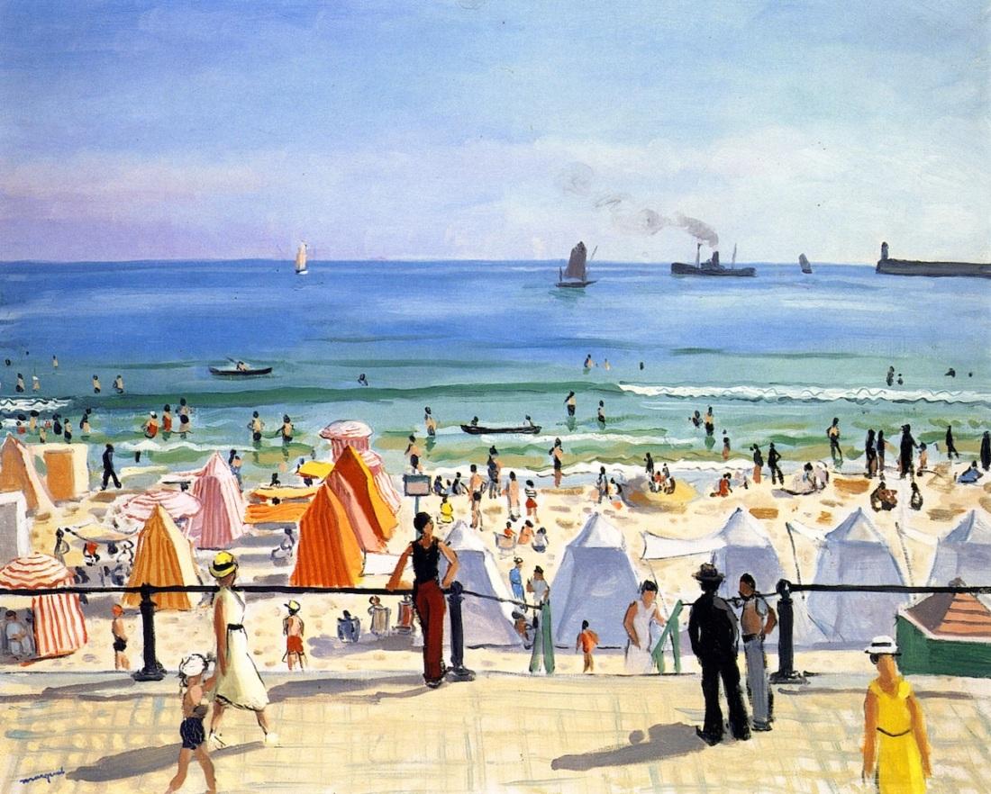 """""""La plage des Sables d'Olonne."""" 1933."""