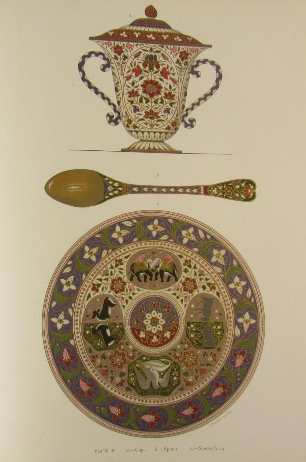 Plate 8. Cup, spoon and saucer that goes with the cup.