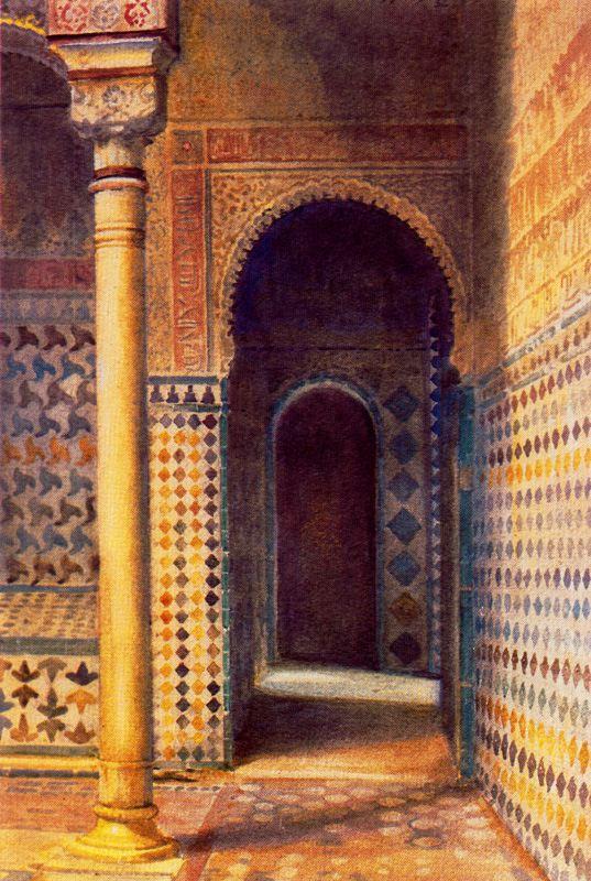 """""""Sala del Reposo, La Alhambra. Undated."""