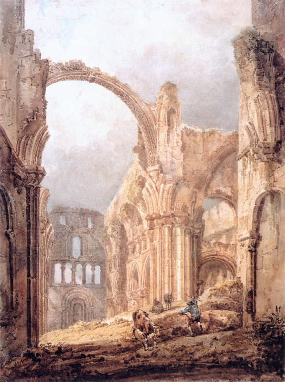 """Interior of Lindisfarne Priory."" 1797."