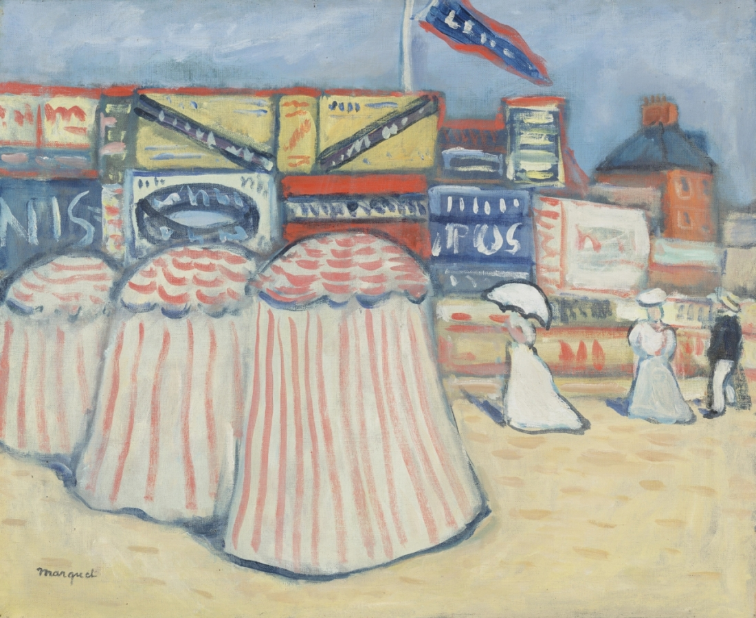 """""""The Beach at Trouville ."""" 1906."""