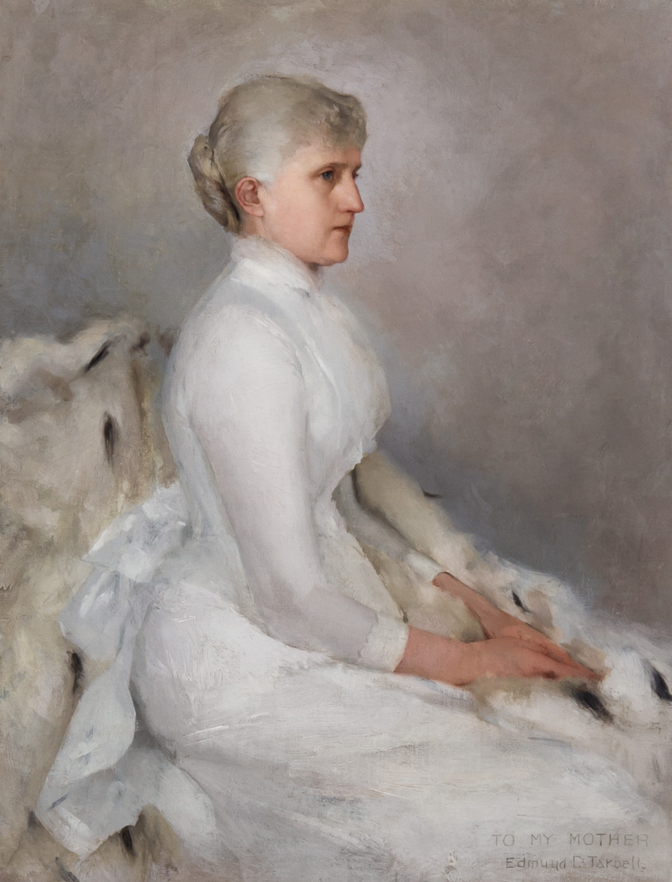 """To My Mother"" Portrait of Maria Sophia (Fernald) Tarbell"
