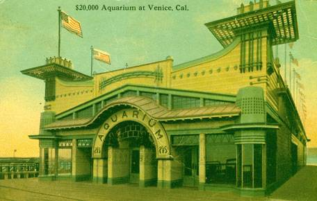 """$20,000. Aquarium at Venice, California."" 1909 postcard."