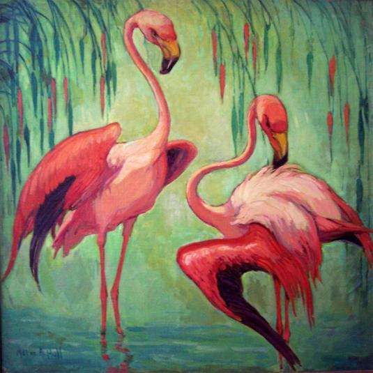"""""""Flamingoes."""" ca. 1925."""