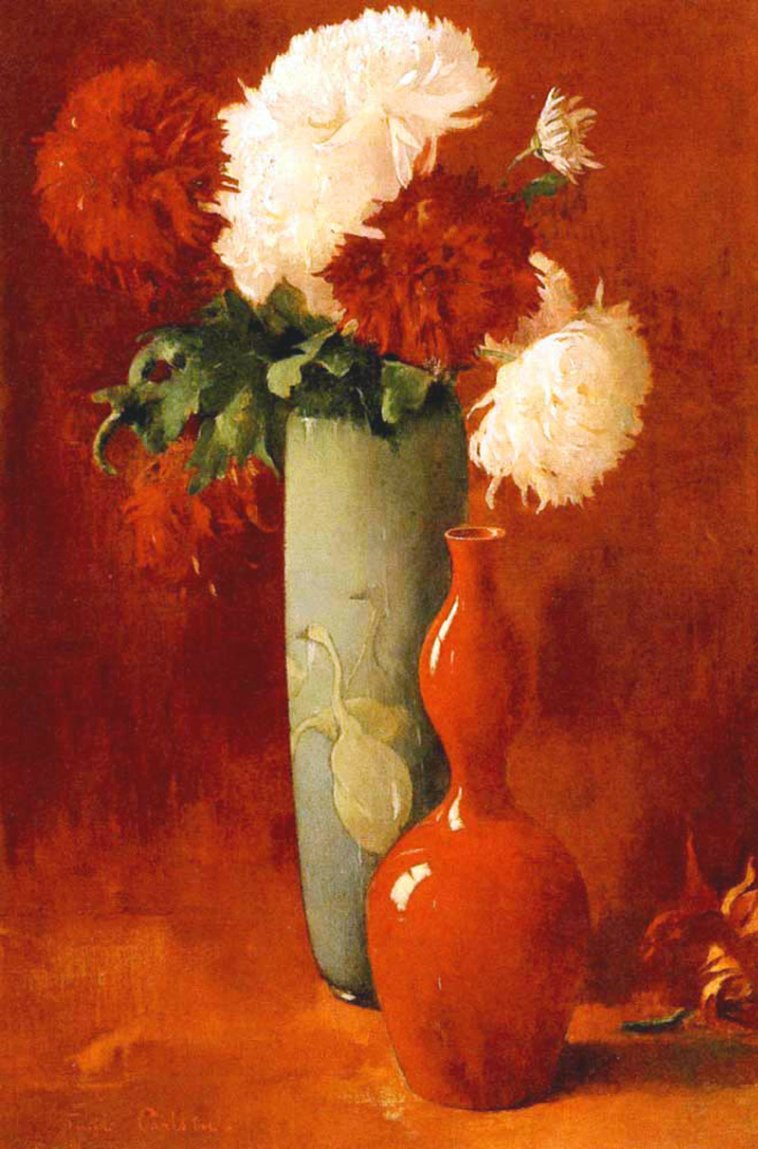 """Vases and Flowers."" ca. 1896."