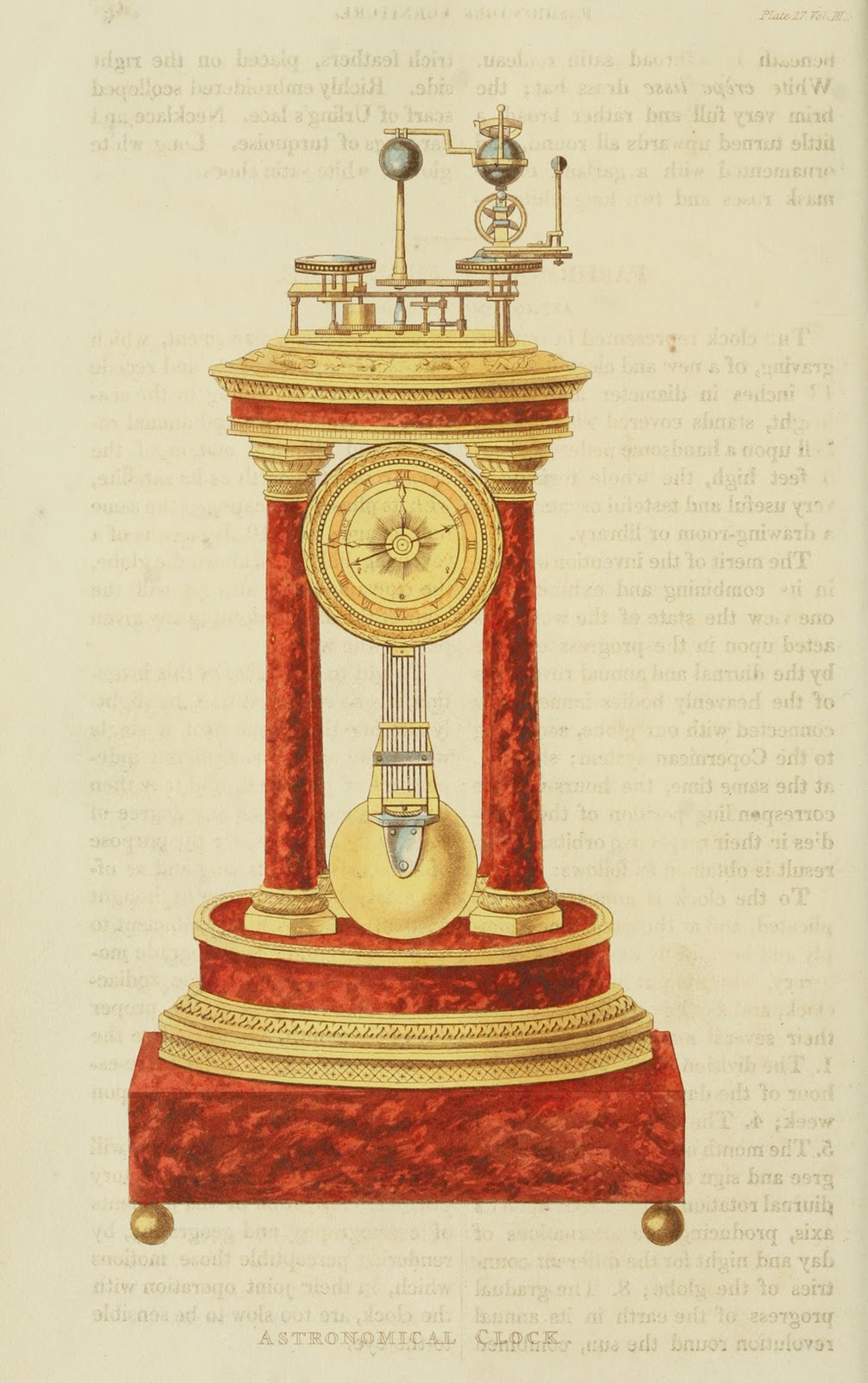 Astronomical clock. 1824. Plate 27.
