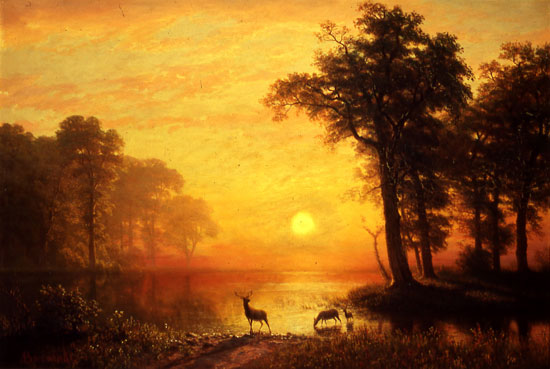 """Evening on Oneida Lake."" After 1875."