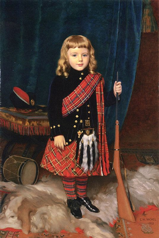 """Portrait of a Young Boy, Wearing Highland Dress."" 1892."